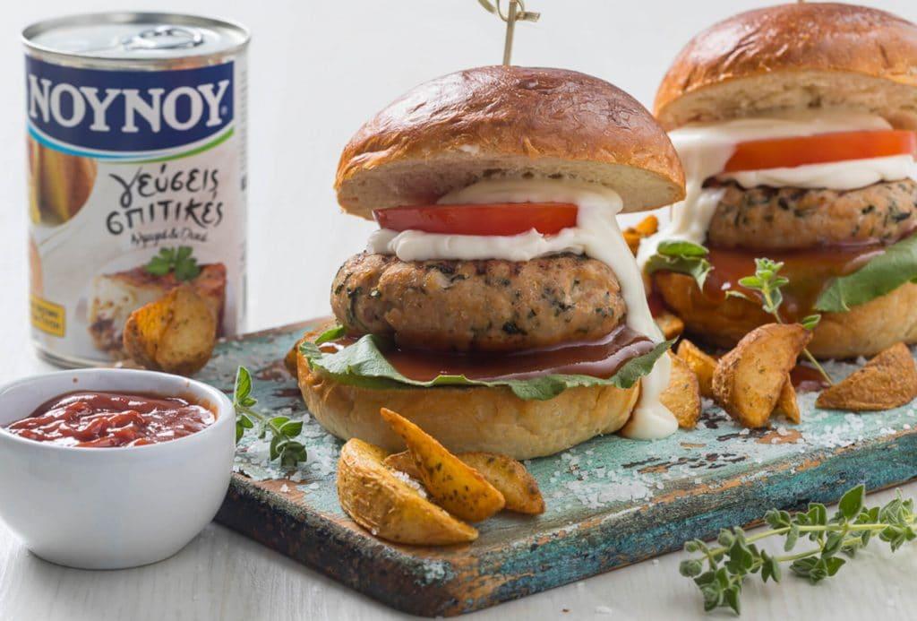 Mini burger γαλοπούλας