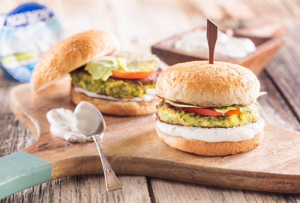 Burger με μπιφτέκι κολοκύθι